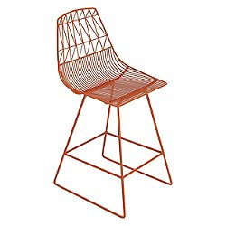 Lucy Counter Stool (Orange) - OPEN BOX RETURN
