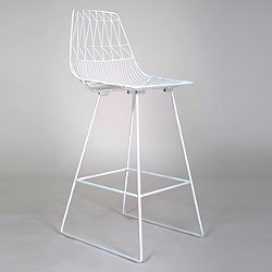 Lucy Bar Stool (White) - OPEN BOX RETURN