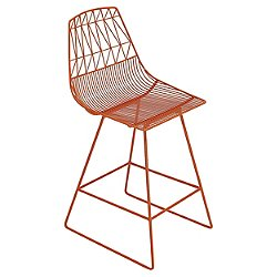 Lucy Bar Stool (Orange) - OPEN BOX RETURN
