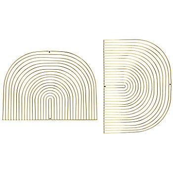 Gold finish / Round shape