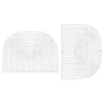 White finish / Round shape