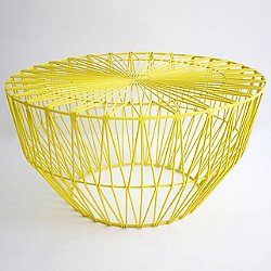 Drum Ottoman/Table (Yellow) - OPEN BOX RETURN