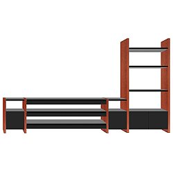 Semblance 4-Section with AV Shelf, 5474-TR, High/Low Home Theater System