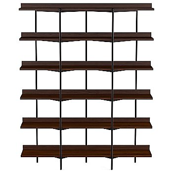 Charcoal Stained Ash Shelves / Black Frame finish / 6 Tier