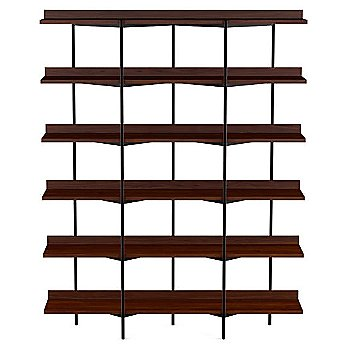 Chocolate Stained Walnut Shelves / Black Frame finish / 6 Tier