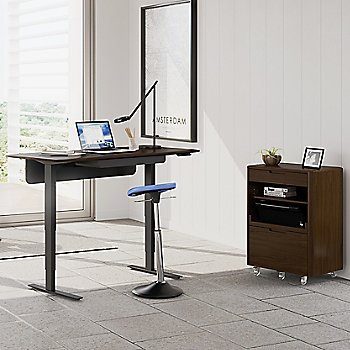 Sola Multifunction Cabinet with Sola Lift Desk, in use