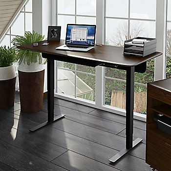 Sola Lift Desk with Sola Multifunction Cabinet, in use