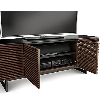 Shown in Chocolate Stained Walnut finish, Quad-Wide