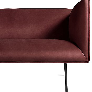 Shown in Oxblood Leather fabric