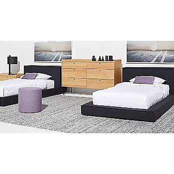 Peek 6 Drawer Dresser with Dodu Bed, Note Table Lamp, Bumper Ottoman and Peek Nightstand