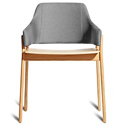 Clutch Dining Chair (Pewter/White Oak) - OPEN BOX RETURN