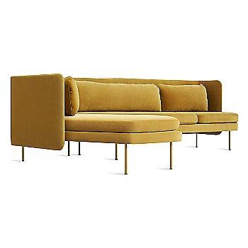 Ochre Velvet color / Chaise on Left Position