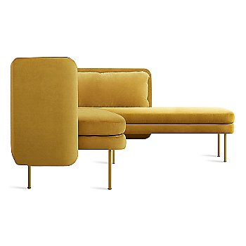 Ochre Velvet color / Chaise on Right Position
