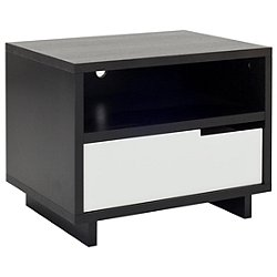 Modu-licious Bedside Table (Graphite on Oak/White) - OPEN BOX RETURN