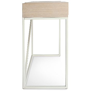 Shown in Matte White, White Washed Ash finish