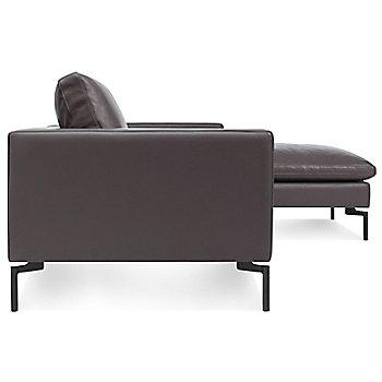 Shown in Dark Brown, Right Arm Chaise