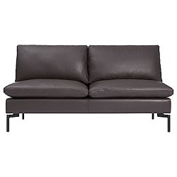 New Standard Armless Leather Sofa