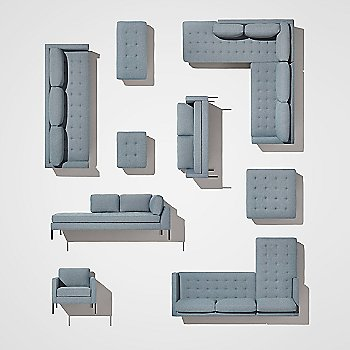 Paramount Lounge Chair with Paramount Sofa with Chaise, Paramount Bench, Paramount Daybed, Paramount Medium Sofa, Paramount Ottoman, Paramount Sectional Sofa, Paramount Sofa and Paramount Studio Sofa