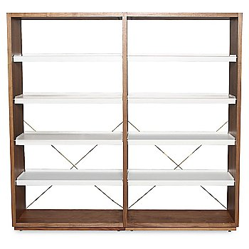 D3 Bookcase with optional Add-On Unit, Walnut/White