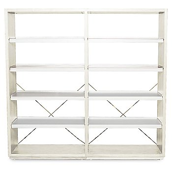 D3 Bookcase with optional Add-On Unit, Ash/White