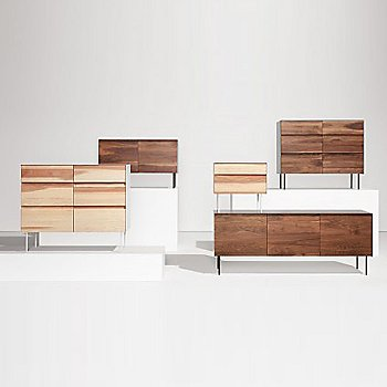 Pictured with the Clad 6 Drawer Dresser / the Clad Nightstand and the Clad 2 Door Credenza