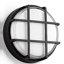 Impact Resistant LED Ceiling and Wall Light With Guard - B33503 (L/Bnz)-OPEN BOX
