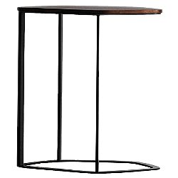 Chance Occasional Side Table (Small/Walnut 860 / Powder-coated Matte Black) - OPEN BOX RETURN