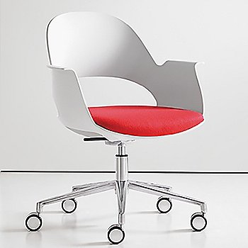 Mist / Polished Aluminum with Focus / Poppy upholstered seat