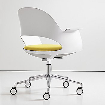 Mist / Polished Aluminum with Focus / Citrus upholstered seat