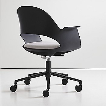 Black / Powder-coated Black with Focus / Mica upholstered seat