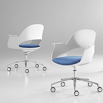 Mist / Polished Aluminum with Focus / Lagoon upholstered seat