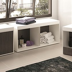 Kitoi Bench with Open Shelves