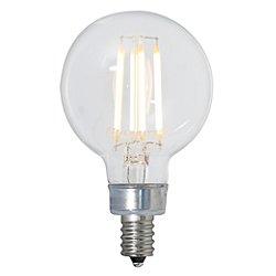 4.5W 120V G16 1/2 E12 LED Clear Bulb