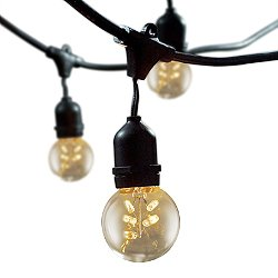 String Lights with Globe Lamps