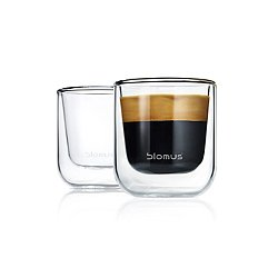 Nero Insulated Espresso/Tea Glasses - Set of Two