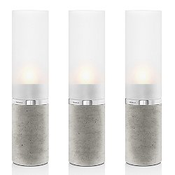 FARO Set of 3 Concrete Tealight Holders