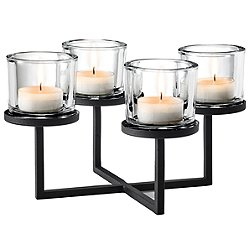 Nero Tabletop Tealight Holder with Base