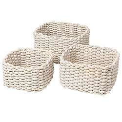 Corda Crochet Basket, Set of 3, Sand