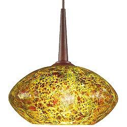 Pandora Pendant (Emerald/Bronze/4in Canopy/LED) - OPEN BOX