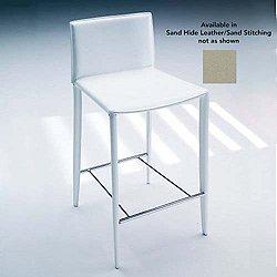 Linda Stool (Barstool Height/Sand Hide Leather) - OPEN BOX
