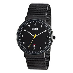 Braun Men's Analog Watch BN-32 (Black/Mesh) - OPEN BOX
