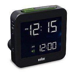 Braun Digital Travel Alarm Clock BN-C009 (Black) - OPEN BOX RETURN