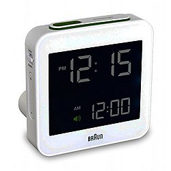 Braun Digital Travel Alarm Clock BN-C009 (White) - OPEN BOX RETURN