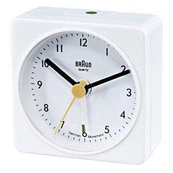 Square Quartz Alarm Clock BN-C002 (White) - OPEN BOX RETURN