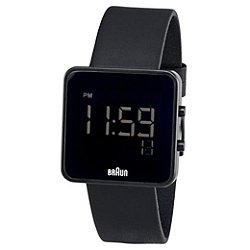 Braun Men's Square Digital Watch BN-46BKBKG - OPEN BOX