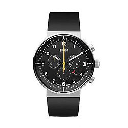 Braun Prestige Analog Watch, Rubber Strap