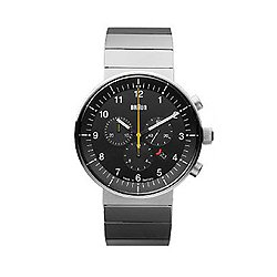 Braun Prestige Analog Watch, Steel Link Band