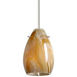 Pera 6 Pendant (Honey/Satin Nickel/Rigid Stem) - OPEN BOX
