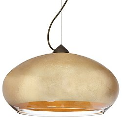 Brio 14 Pendant (Gold/Bronze/LED/Flat with Cord) - OPEN BOX