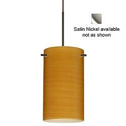 Stilo 7 Pendant Light (Oak/Flat/Satin Nickel/Incandescent) - OPEN BOX RETURN